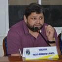 Vereador Paulinho da refrigeração na sessão do dia 27 de maio